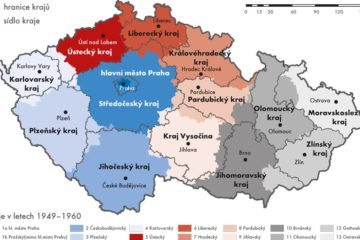 Kraje 1949 a 2000 porovnání